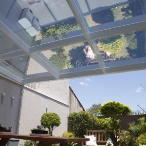 Cobertura de vidro para jardim